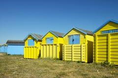 Capanne della spiaggia di Littlehampton fotografie stock libere da diritti