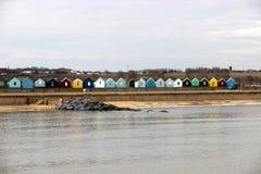 Capanne della spiaggia di Southwold Immagine Stock Libera da Diritti