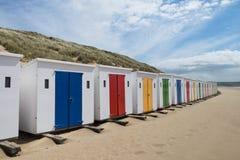 Capanne della spiaggia di Woolacombe Immagini Stock Libere da Diritti