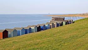 Capanne della spiaggia e randello di navigazione Fotografia Stock