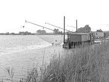 Capanne di pesca Fotografia Stock