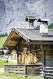 Capanne nelle alpi austriache Fotografia Stock