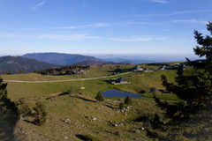 Capanne tradizionali della montagna di planina di Velika Immagini Stock Libere da Diritti