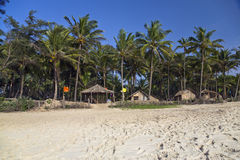 Capanne tropicali della spiaggia Fotografie Stock