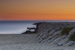 Caparica strand Royaltyfri Bild
