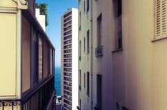 Capas coloridas fascinadoras en Mónaco Imagen de archivo libre de regalías