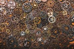 Capas de diversas ruedas dentadas Imágenes de archivo libres de regalías