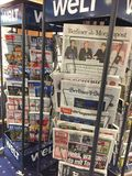 Capas de jornais alemães fotografia de stock