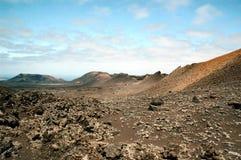 Capas de la lava Imágenes de archivo libres de regalías