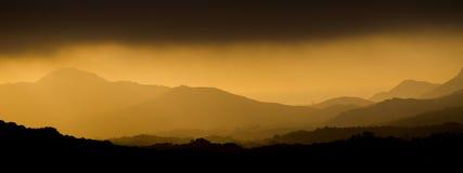 Capas de la montaña Fotografía de archivo
