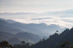 Capas de la montaña con Ray de la luz Imagen de archivo libre de regalías