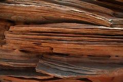 Capas de la piedra arenisca Fotos de archivo