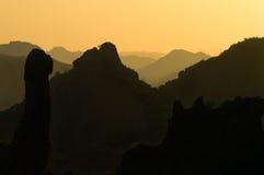 Capas de la puesta del sol Foto de archivo