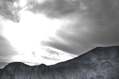Capas de la roca del valle del desierto Fotos de archivo