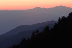 Capas de la salida del sol de la montaña Imagen de archivo libre de regalías