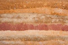Capas de la textura de tierra Imágenes de archivo libres de regalías