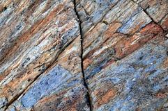 Capas de las rocas metamórficas Imagen de archivo libre de regalías