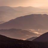 Capas de montaña Foto de archivo libre de regalías
