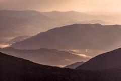 Capas de montaña Imagenes de archivo