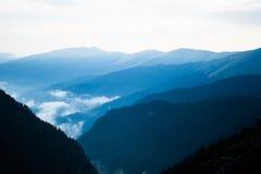 Capas de montañas Fotografía de archivo
