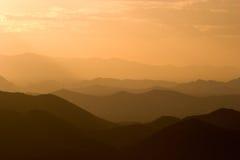 Capas de montañas en Arizona Fotos de archivo