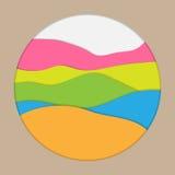 Capas de papel multicoloras Imagen de archivo libre de regalías
