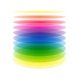 Capas del cilindro del arco iris Foto de archivo