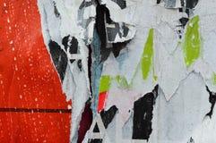 Capas rasgadas del cartel imagen de archivo libre de regalías