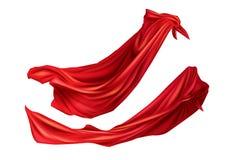 Capas rojas con las capillas fijadas Cabos lisonjeramente de seda ilustración del vector