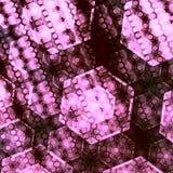 Capas traslapadas artísticas abstractas del hexágono Foto de archivo