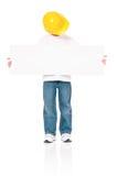 Capataz del muchacho en casco Fotografía de archivo