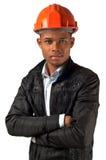 Capataz joven afroamericano del arquitecto fotos de archivo libres de regalías