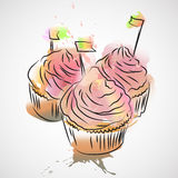 Capcake Στοκ εικόνα με δικαίωμα ελεύθερης χρήσης