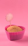 Capcake. Cupcake in the shape of a heart in a pink form Royalty Free Stock Photography