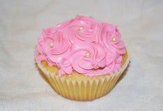 Capcake de vanille Photos libres de droits