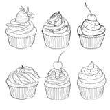 Capcake  hand drawn illustration Royalty Free Stock Photos