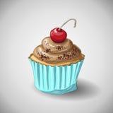 Capcake-Schokolade Handabgehobener betrag Lizenzfreie Stockfotos