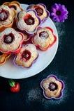Capcakes della fragola Fotografia Stock