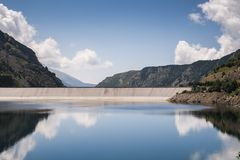 Hydro electric reservoir Stock Photo