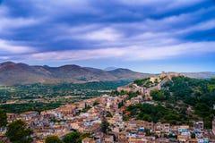 Capdepera castle in Mallorca island, Spain. Capdepera castle on green hill in Mallorca island, Spain Stock Photo