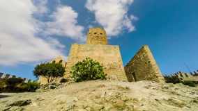 Capdepera castle tower in Mallorca island, Spain. stock video footage