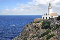 Capdepera-Leuchtturm, Mallorca Stockfotografie