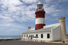 Cape Agulas lighthouse. Cape Agulhas lighthouse at the most southen point of Africa Royalty Free Stock Photography