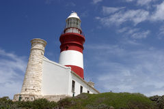 Cape Agulhas. Lighthouse at the most southern point of Africa Royalty Free Stock Photography
