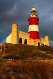 Cape Agulhas lighthouse Stock Images