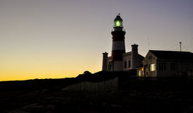 Cape Agulhas Lighthouse - Africa's southernmost point Royalty Free Stock Photo