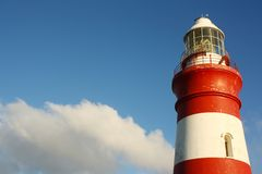 Cape Agulhas lighthouse, South Africa Royalty Free Stock Photos