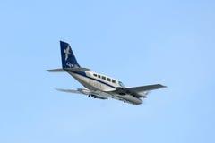 Cape Air Cessna 402 à l'aéroport de Boston Images libres de droits