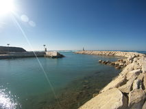 Cape  akrotiri old port Stock Photography