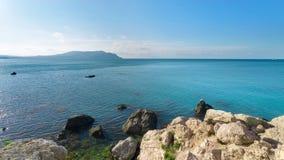 Cape Alchak Eastern side of Crimea. Photo just after sunrise Crimea stock image